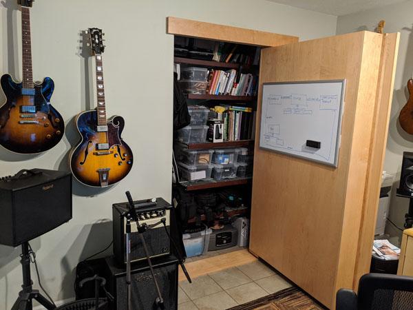 The Murphy Door to hide my clutter
